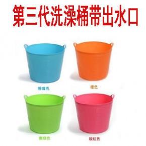 新款 第三代大号婴幼儿游泳池塑料储水桶 儿童洗澡桶泡澡桶浴桶