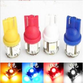 LED汽车灯泡T10示宽灯 超亮日行灯 牌照装饰灯小灯改装 w5w冰蓝