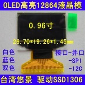 双色OLED(UG-2864KSWEG01/UG-2864HMBEG01)