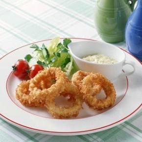 必胜客西餐厅用 亚洲渔港 香酥鱿鱼圈 600g  油炸食品