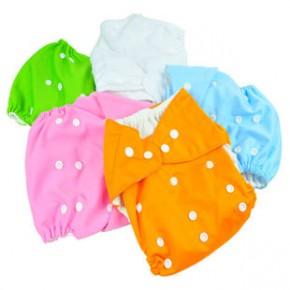 袋鼠宝宝 可调节婴儿环保纳米抗菌布尿裤防漏尿裤(送1尿片)