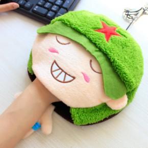 USB发热鼠标垫带护腕 韩国可爱保暖加热鼠标垫194G