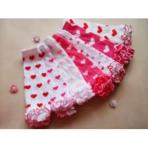 女童春秋季新款 女童袜套 春夏季儿童木耳边打底 花边袜套