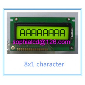 0801LCD液晶显示屏  8x1大字符液晶显示模块 HY0801A