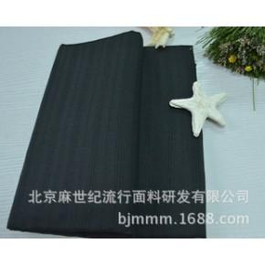 100%纯苎麻面料黑色提花服装用布精致现货库存面料
