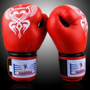 康瑞新款拳击手套一次成型优质仿皮拳套KB317一件代发
