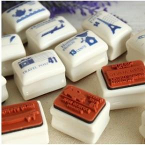 韩国文具杂货批发 斯普维加zakka怀旧陶瓷方形印章 sv12-415