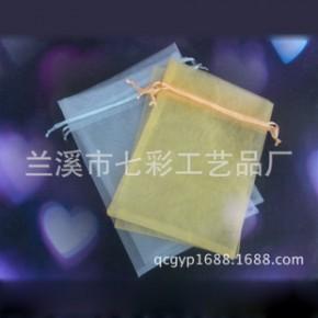 15*20珍珠纱束口包装袋 定做首饰礼品纱布抽绳欧根纱袋