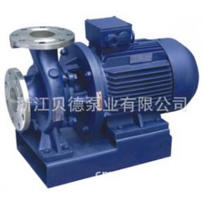 ISWHD铜叶轮四氟机封不锈钢耐腐蚀卧式管道离心泵