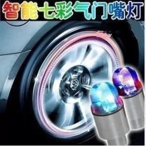 自行车风火轮 车轮灯 气门灯 双感应七彩风火轮 汽车风火轮夜光灯