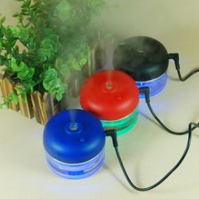 新款迷你USB加湿器 车载家用两用超声波加湿器 玻璃瓶香薰加湿器