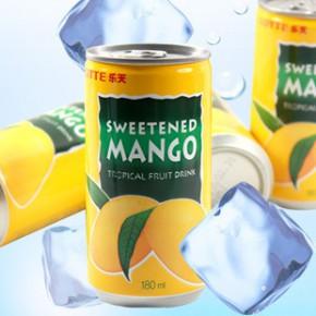 T韩国进口食品乐天 石榴汁/芒果汁 夏季饮品180ml*15罐/箱