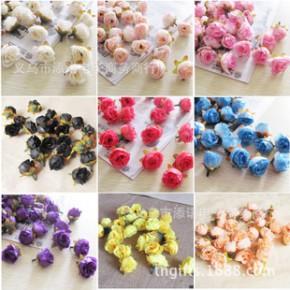 仿真玫瑰花 人造花 仿真花朵批发 手工DIY小茶玫 仿真花18个颜色
