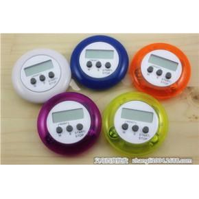 圆形电子定时器厨房倒计时器可正计时 配电池 计时器