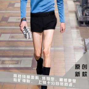 2014夏新款 欧美时尚走秀款高端修身短裤三分裤 男裤短裤送真皮带