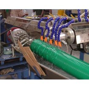 牛筋管生产线,PVC旋螺管设备
