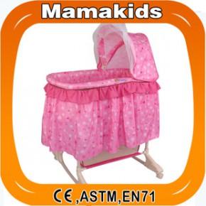 贝之家 可推睡蓝宝宝摇篮婴儿床童床摇床宝宝摇篮床 H0656