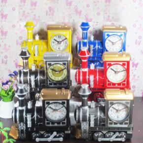 新奇特仿古 火车头闹钟 创意复古时尚精品闹钟 儿童创意闹钟