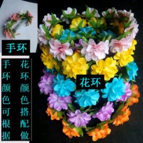 DIY 新娘伴娘花环手环 旅游演出节日必备手环花环套装