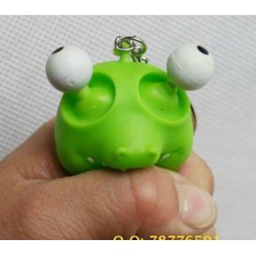 挤爆眼公仔/挤眼公仔/发泄 减压玩具/出气玩具(带钥匙扣)