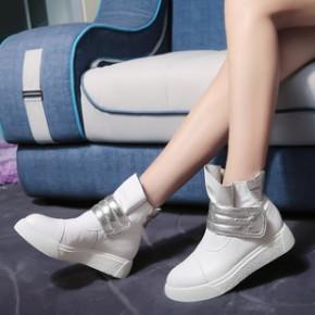 真皮时尚休闲女靴小圆头透气纯手工中帮鞋潮女鞋欧洲站平底鞋