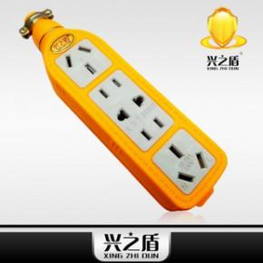 一体化7孔、9孔、12孔、16孔防水防爆地拖插座 (黄色)