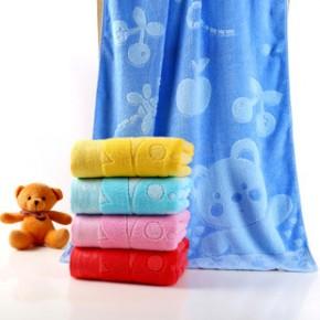 竹纤维提花大浴巾批发成人婴儿70*140大浴巾