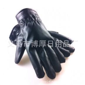 男士真皮 PU皮保暖手套 男士羊皮手套 冬季新款摩托车手套骑