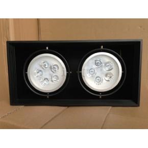 LED黑色明装斗胆灯双头豆胆灯双眼射灯黑色外壳筒灯可定做白色