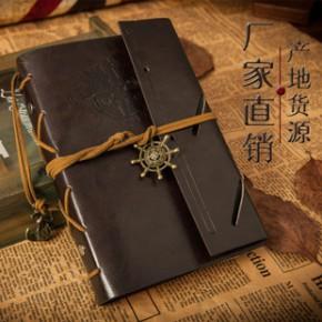 韩国文具 创意仿皮记事本 活页复古笔记本 海盗日记本 批发礼品