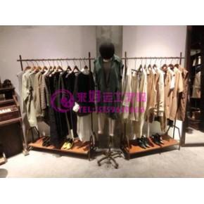 服装店货架 服装展示架 复古服装陈列架专卖店服装货架个性服装架