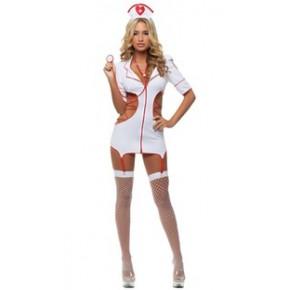 护士服 情趣内衣 女护士制服诱惑 夜店公关服 桑拿服小护士连身服