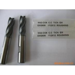 原装STK涂层钴高速钢细齿加长粗皮立铣刀EM2616TiCN