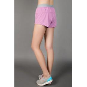 女子全能速干运动短裤 带平脚内衬女跑步短裤 女子紧身运动裤8528