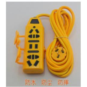 001 防水防摔工程拖线板 葫芦形3米线带盖子地拖 防爆插座拖线板