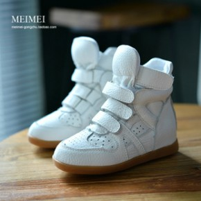 2014秋冬季新款童鞋批发韩版男童女童休闲高帮运动鞋一件代发