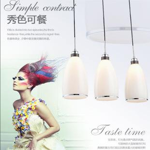 餐厅灯垂饰 三头创意现代字体简约LED饭厅灯具餐厅单头吧台灯饰餐垂饰