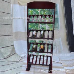 纯实木立式酒具收纳架 厂家直销四层精美欧式木制酒杯架