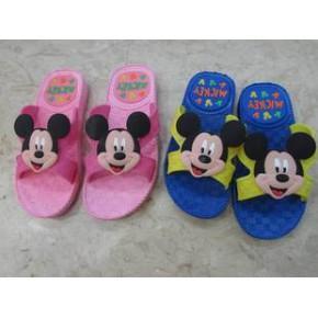 2014新款米奇可爱儿童凉拖鞋 夏季大童时尚休闲防滑凉拖鞋