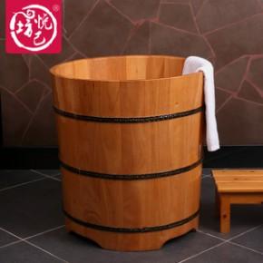 2014新品泡澡木桶洗澡盆橡木圆形居家沐浴桶单人浴缸木质浴盆