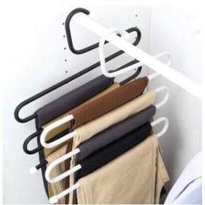 欧式多功能 S型多层裤架 防滑 服装店衣架衣柜裤挂裤夹