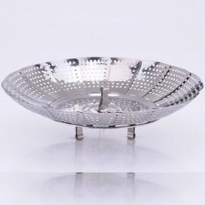 不锈钢蒸盘器 蒸笼盘   伸缩蒸笼盘 莲花蒸盘器 厨房伸缩沥水盘