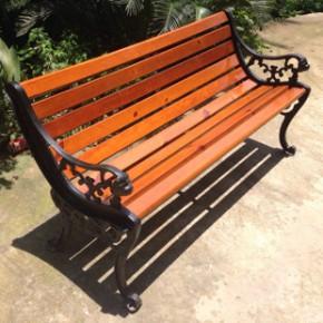 运通  户外公园椅 铸铁防腐木室外实木长椅 室外休闲椅长凳子
