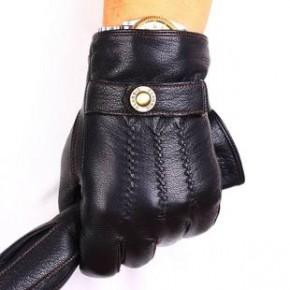 真皮手套男士户外骑车羊皮手套冬季加绒时尚保暖新款厂家批发外贸