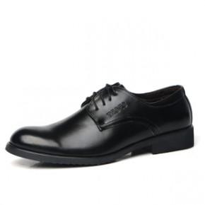 爆款男士商务正装皮鞋休闲英伦潮流尖头皮鞋真皮系带男鞋婚鞋