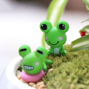 树脂青蛙王子塑料公仔 家居装饰创意小摆件diy多肉苔藓微景观配件
