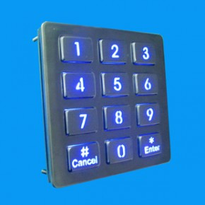 LED不锈钢金属键盘 按钮密码键盘