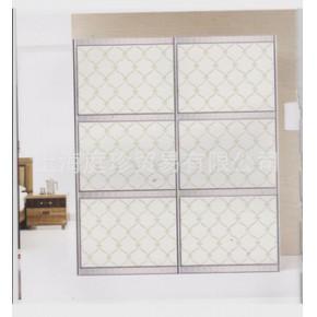 定制欧式皮革软包衣柜门移门 钛合金推拉门衣橱门隔断门