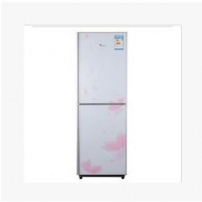 美的/小天鹅 BCD-206GSL月光银花季钢化玻璃双门冰箱