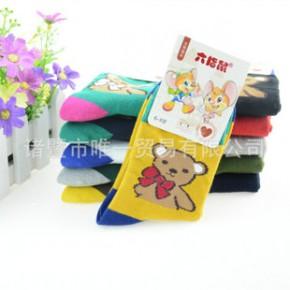 2014新款爆款卡通系列儿童加厚棉袜 小熊图案 精梳棉袜子 儿童袜